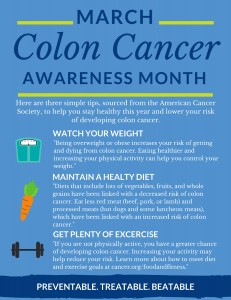 Colon Cancer Prevention Tip Sheet
